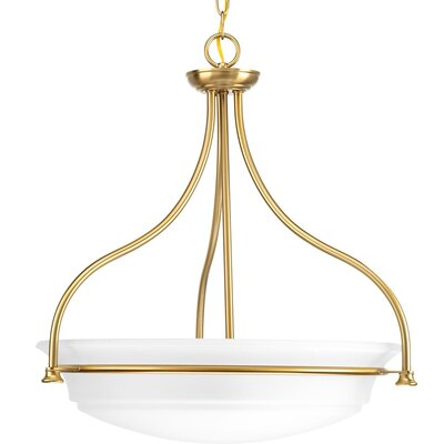 Perot 3-Light Bowl Pendant Finish: Brushed Bronze
