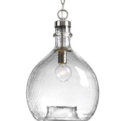 Cedeno 1-Light Globe Pendant Finish: Brushed Nickel