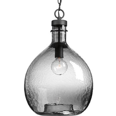 Cedeno 1-Light Globe Pendant Finish: Graphite