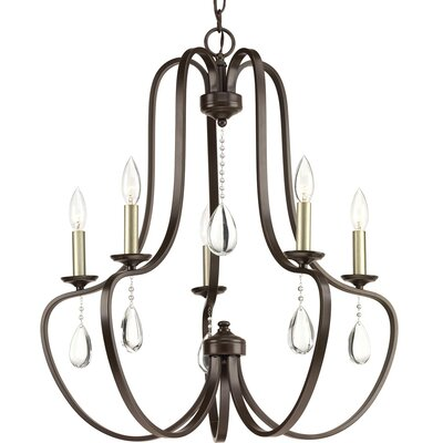 Brigida 5-Light Candle-Style Chandelier Finish: Antique Bronze 06D8F02AFD5B4F1FAB7C4260CFE07D49
