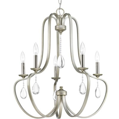 Brigida 5-Light Candle-Style Chandelier Finish: Silver Ridge