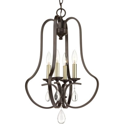 Brigida 4-Light Foyer Pendant Finish: Antique Bronze