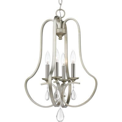 Brigida 4-Light Foyer Pendant Finish: Silver Ridge