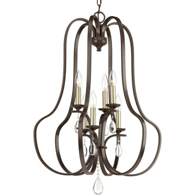 Brigida 6-Light Foyer Pendant Finish: Antique Bronze