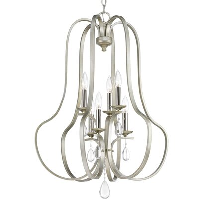 Brigida 6-Light Foyer Pendant Finish: Silver Ridge