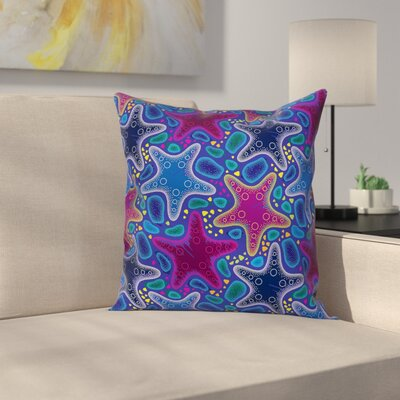 Nautical Starfish Animal Art Square Pillow Cover Size: 18 x 18