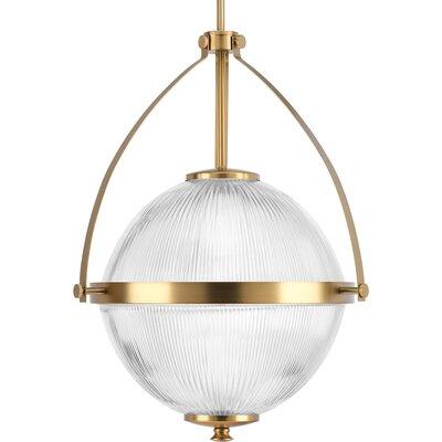 Janine 1-Light Globe Pendant Finish: Brushed Bronze