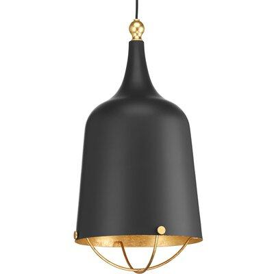 Robbs 1-Light Schoolhouse Pendant Finish: Black