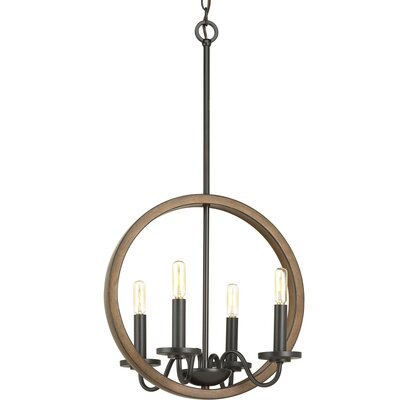 Maez 4-Light Mini Chandelier Finish: Antique Bronze