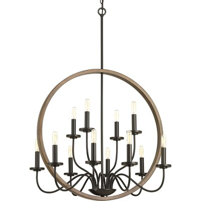 Maez 12-Light Candle-Style Chandelier Finish: Antique Bronze