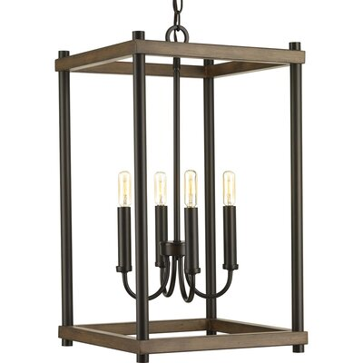 Maez 4-Light Geometric Pendant Finish: Antique Bronze