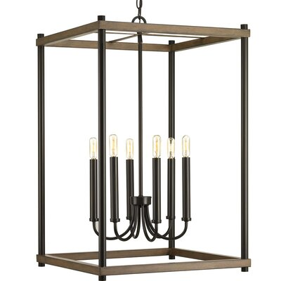 Maez 6-Light Geometric Pendant Finish: Antique Bronze