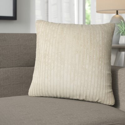Galilea Solid Throw Pillow Color: Buff