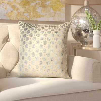 Carlie Velvet Throw Pillow Color: Grey, Size: 18 H x 18 W