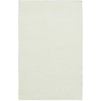 Honeycomb Hand-Woven Wool Ocean/Ivory Area Rug
