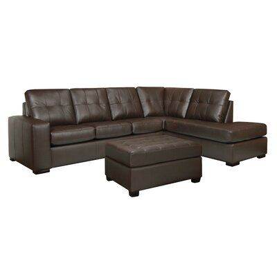 Winkleman Leather Sectional with Ottoman