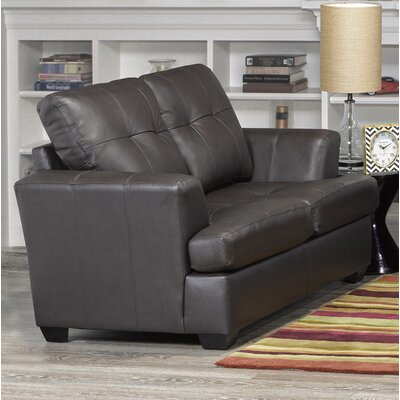 Cowhill Leather Loveseat Upholstery: Brown