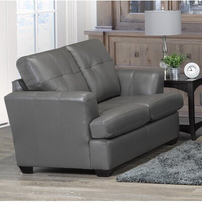 Cowhill Leather Loveseat Upholstery: Light Gray