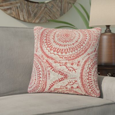 Lau Graphic Throw Pillow Color: Cherry