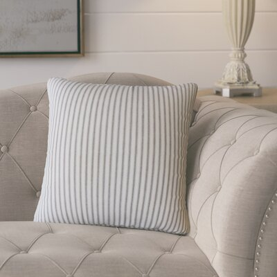 Fondulac Striped Cotton Throw Pillow Color: Black