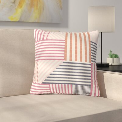 Pellerina Design Mod Linework Geometric Outdoor Throw Pillow Size: 18 H x 18 W x 5 D