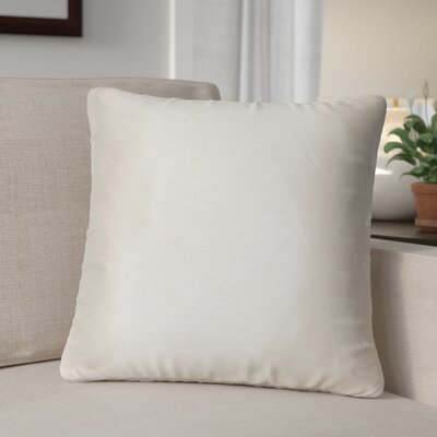 Kiera Square Throw Pillow Color: Silver
