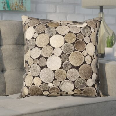 Leather Throw Pillow Color: Silver