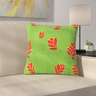 Billington Heliconia Outdoor Throw Pillow Size: 18 H x 18 W x 5 D