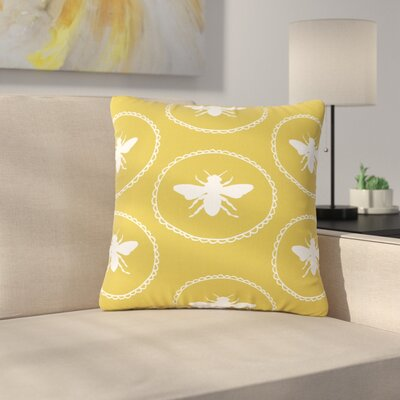 Jennifer Rizzo Busy as a Bee Nature Outdoor Throw Pillow Size: 18 H x 18 W x 5 D