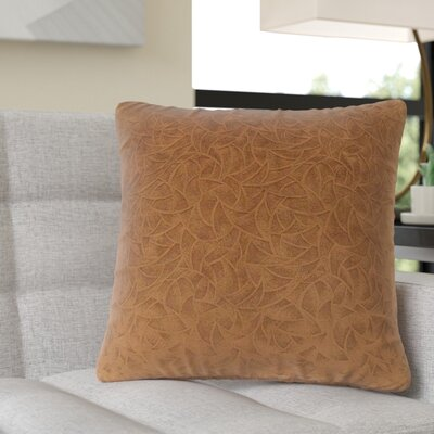 Aymond Square Throw Pillow Color: Light Brown