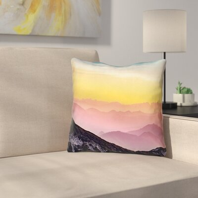 Thang Pastel Landscape Outdoor Throw Pillow Size: 20 x 20