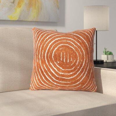 Mack Geometric Circle Throw Pillow Color: Orange
