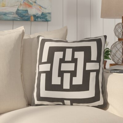 Busti Cotton Throw Pillow Color: Black, Filler: Down