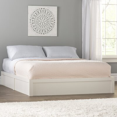 Terry Platform Bed Frame Size: Full/Double, Color: Ivory