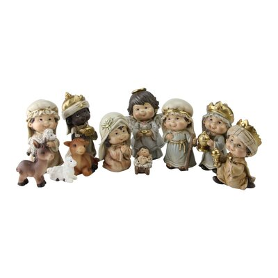11 Piece Christmas Nativity Figurine Set with Accents C846E62987004502BAD7B25E3EF9E922