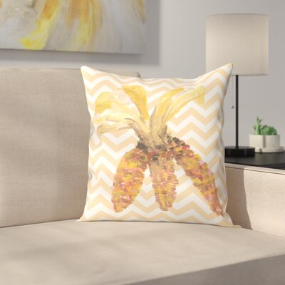 Jetty Printables Chevron Corn Autumn Print Throw Pillow Size: 16 x 16