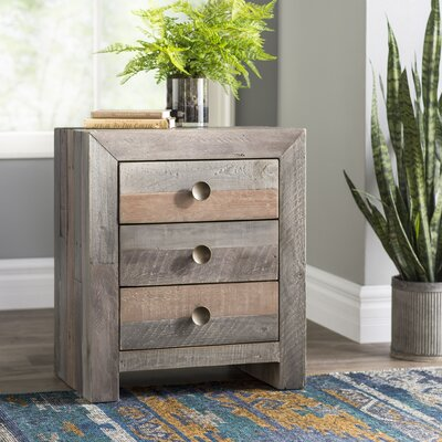 Pompano Beach 3 Drawer Nightstand Color: Storm