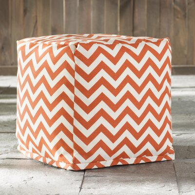 Jamaal Cube Ottoman Upholstery: Burnt Orange