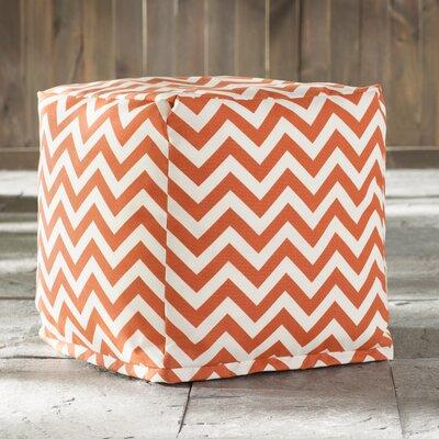 Jamaal Pouf Ottoman Upholstery: Burnt Orange