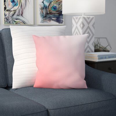 Bonnie Throw Pillow Size: 16 H x 16 W, Color: Coral