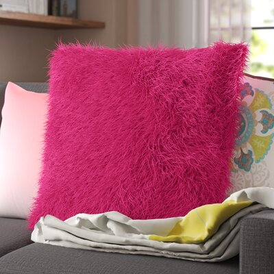 Khloe Shag Throw Pillow Color: Fuschia