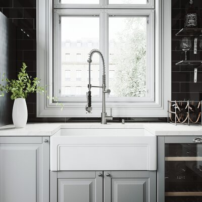 All-In-One Casement 30 x 18 Farmhouse/Apron Kitchen Sink with Faucet