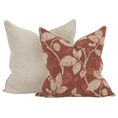 Rania Throw Pillow Color: Canyon, Size: 24 x 24