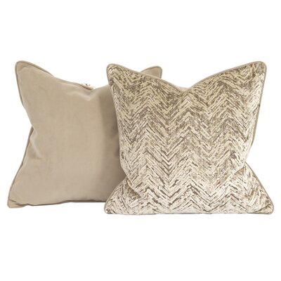 Drumrankin Throw Pillow Color: Sand, Size: 20 x 20