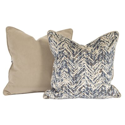 Drumrankin Throw Pillow Color: Indigo, Size: 24 x 24