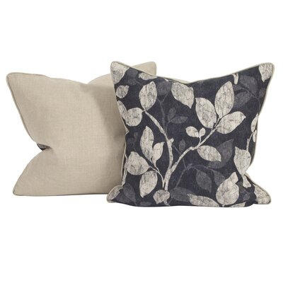 Rania Throw Pillow Color: Royal, Size: 24 x 24