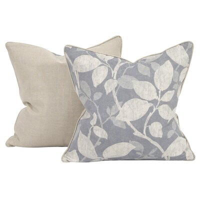 Rania Throw Pillow Color: Breeze, Size: 24 x 24