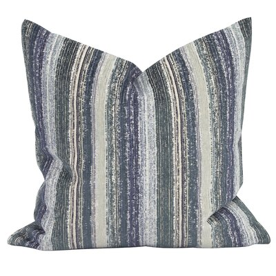 Heffington Throw Pillow Color: Indigo, Size: 24 x 24