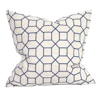 Drumrankin Trellis Throw Pillow Color: Indigo, Size: 20 x 20