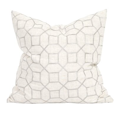 Drumrankin Trellis Throw Pillow Color: Natural, Size: 24 x 24
